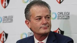 Pedro Portilla en conferencia de prensa.