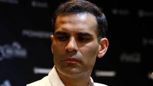 Rafa Márquez durante una conferencia de prensa.