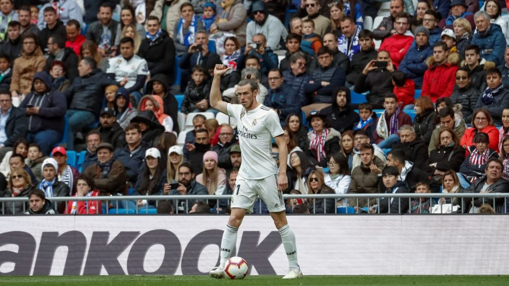 Gareth Bale during a match for Real Madrid.