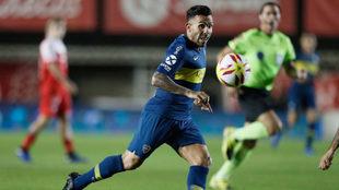 Tévez, en acción con Boca Juniors.