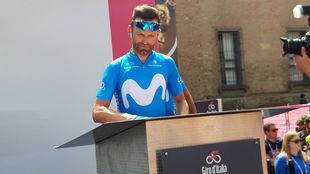 José Joaquín Rojas, en el podio de firma de la undécima etapa en...