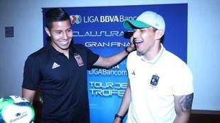 Cota, acompañado de Hugo Ayala en el Día de Medios.