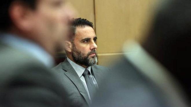 Pablo Ibar, durante el juicio en el que ha sido condenado a cadena...