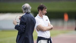 Ziganda, en su último partido al frente del Athletic la pasada...
