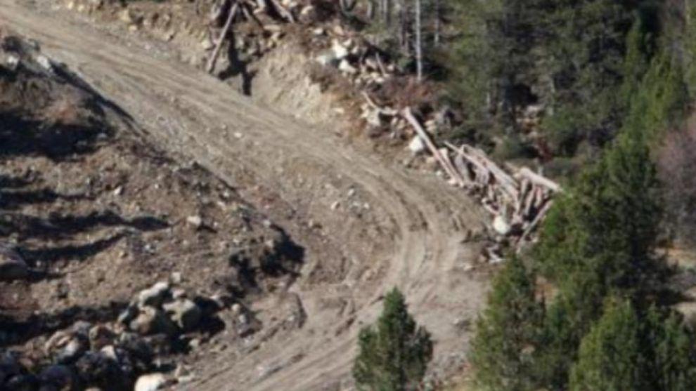 La nueva pista hasta el Peretol de Grandvalira ya es visible desde la...