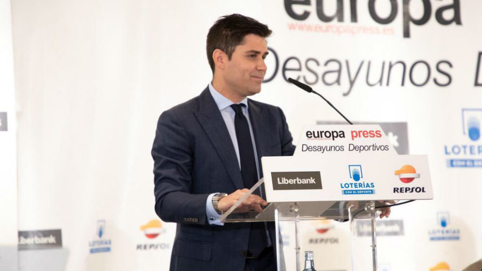 David Aganzo durante un acto en Madrid.