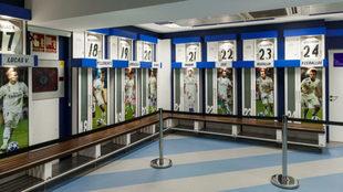 Imagen del vestuario del Real Madrid