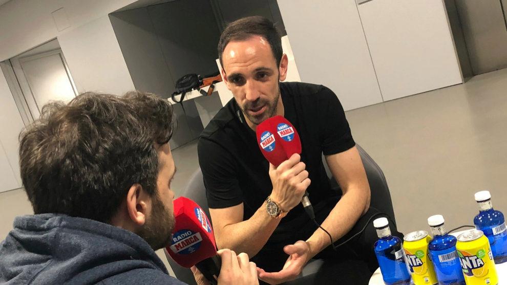 Juanfran durante una entrevista en Radio MARCA