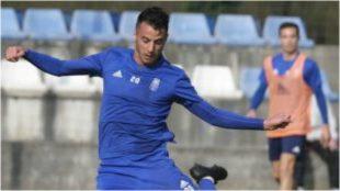 Sergio Tejera, en un entrenamiento