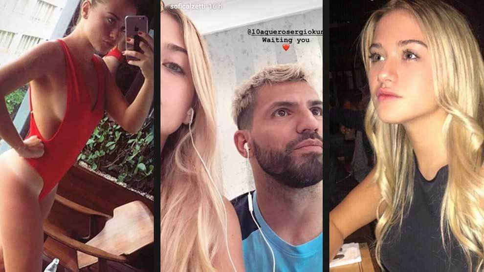 Sergio Aguero made his relationship with Sofía Calzetti official via Instagram.