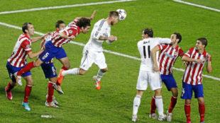 Ramos anota en gol del empate en la final de Champions de Lisboa, el...