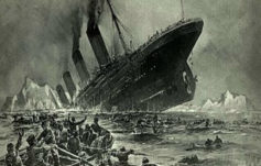 Hundimiento del Titanic. También pasó en la película, claro