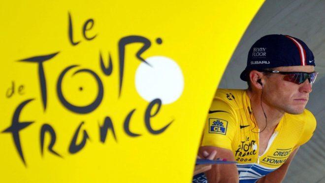Lance Armstrong, en un Tour de Francia