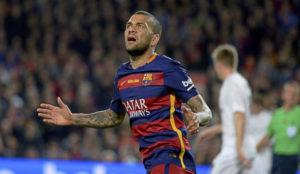 Alves, con el Barcelona.