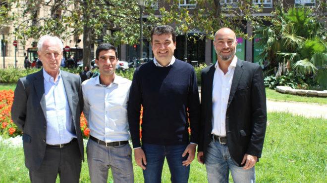 Paco Borao, Marc Roig, Juan Botella y José Antonio Redolat