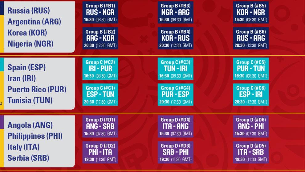 Calendario Mundial Rugby 2019.Mundial De Baloncesto Horarios De La Copa Del Mundo China
