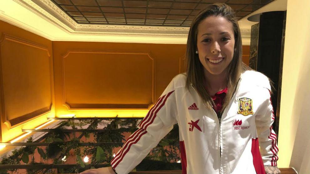 Lola Gallardo posa para MARCA en un céntrico hotel madrileño.