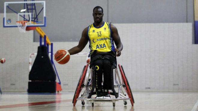 Amadou Diallo, durante un entrenamiento con el Ilunion.