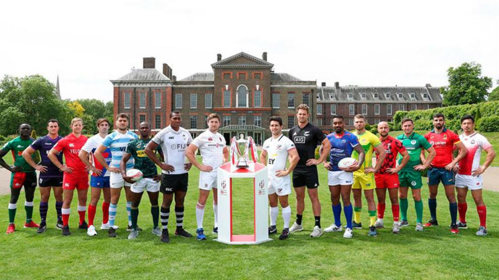 Capitanes del torneo de las Series Mundiales de Seven de Twickhenham