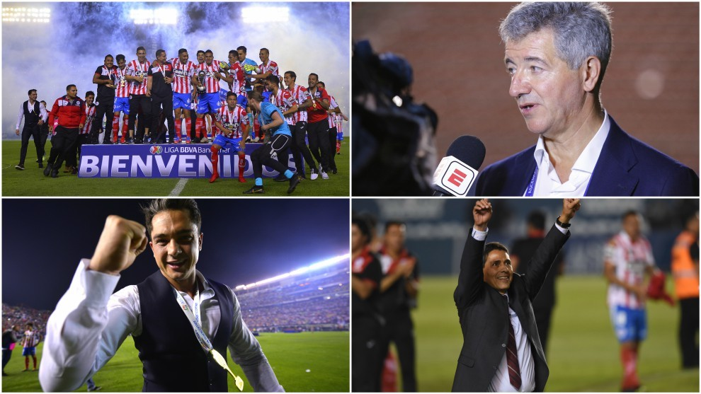 La plantilla del Atlético San Luis, Miguel Ángel Gil, Marrero y...