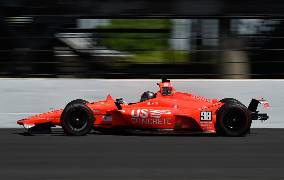 El coche de Marco Andretti, con los colores del que usó su abuelo...