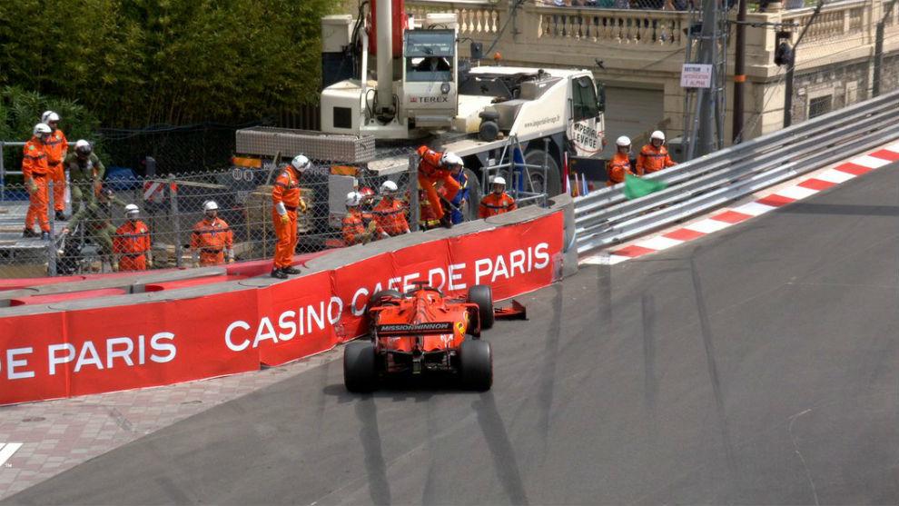 Vettel sufre un accidente en los L3 del GP de Mónaco