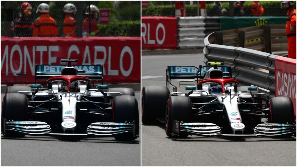 Hamilton y Bottas.