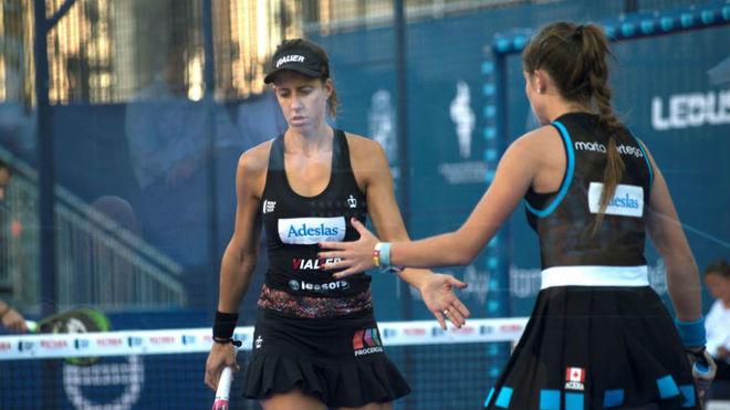 Marta Ortega y Marta Marrero, durante la semifinal.