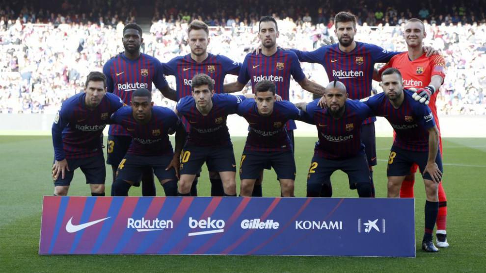 Equipo inicial del F.C. Barcelona