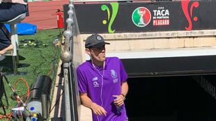 Casillas, en una banda del estadio Nacional de Portugal