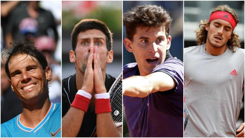 Nadal, Djokovic, Thiem y Tsitsipas, entre los favoritos