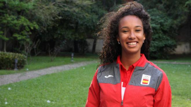 María Vicente durante los Juegos Olímpicos de la Juventud.