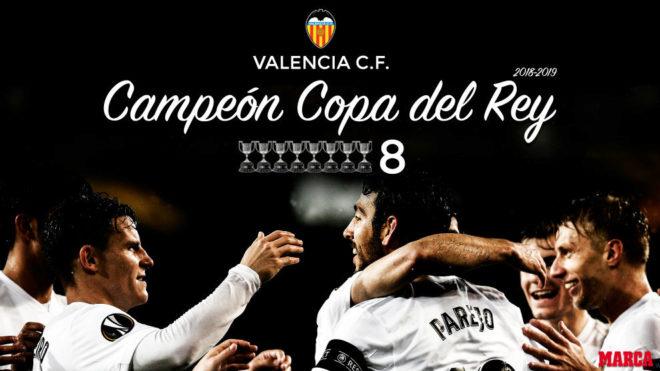 Valencia CF: El Valencia Gana La Octava Copa De Su