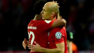 Robben se despide del Bayern tras ganar la Copa