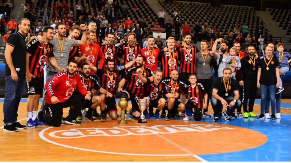 La plantilla del Vardar, campeón de Macedonia