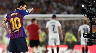 Messi, al final del partido del Benito Villamarín.