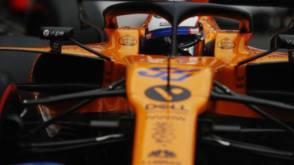 Sainz, durante el Gran Premio de Mónaco.