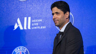 Nasser al Khelaifi, presidente del PSG y del fondo QSI, interesado...