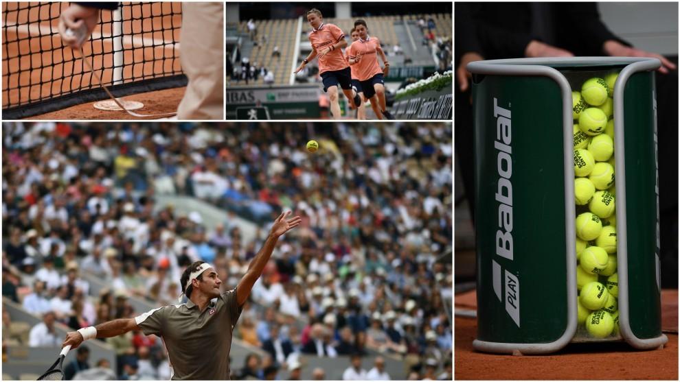 La victoria de Federer, el calentamiento de los recogepelotas... Una...