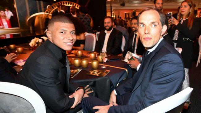Tuchel y Mbappé, en la gala de la Fundación del PSG esta semana.