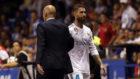 Ramos y Zidane, durante un partido.
