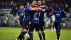 Los futbolistas del Atalanta celebran la victoria contra el Sassuolo