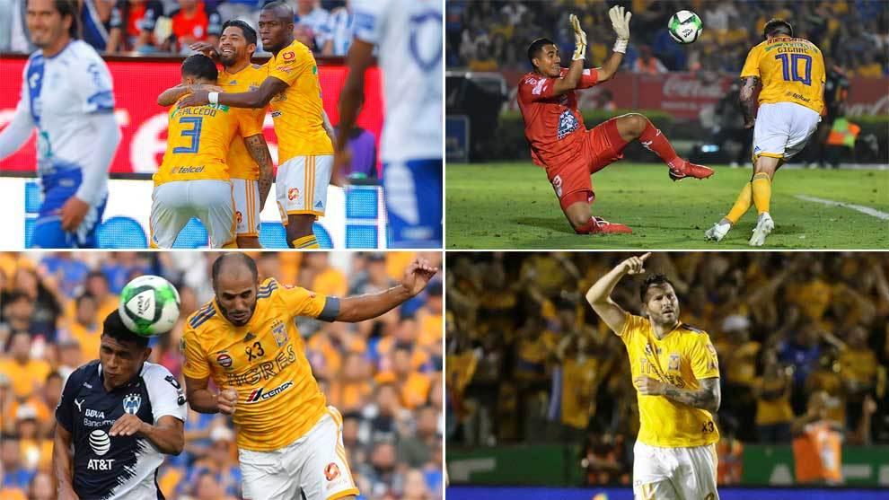 Los cuatro goles de Tigres en la Liguilla.