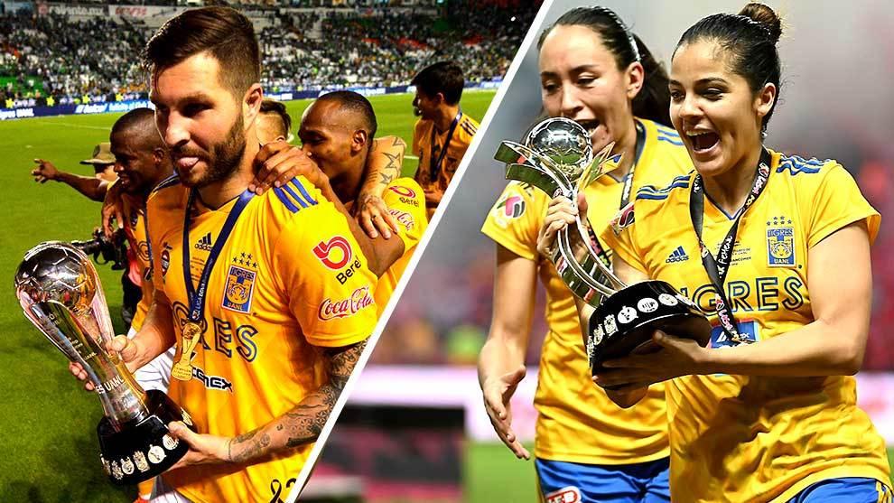 Tigres ganó la liga varonil y la femenil en el Clausura 2019.