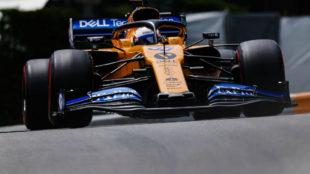 Sainz, durante la carrera de ayer