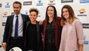 Jorge Vilda, Amanda Sampedro, Silvia Meseguer y Mariona Caldentey.