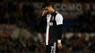 Ronaldo, ante la Roma.