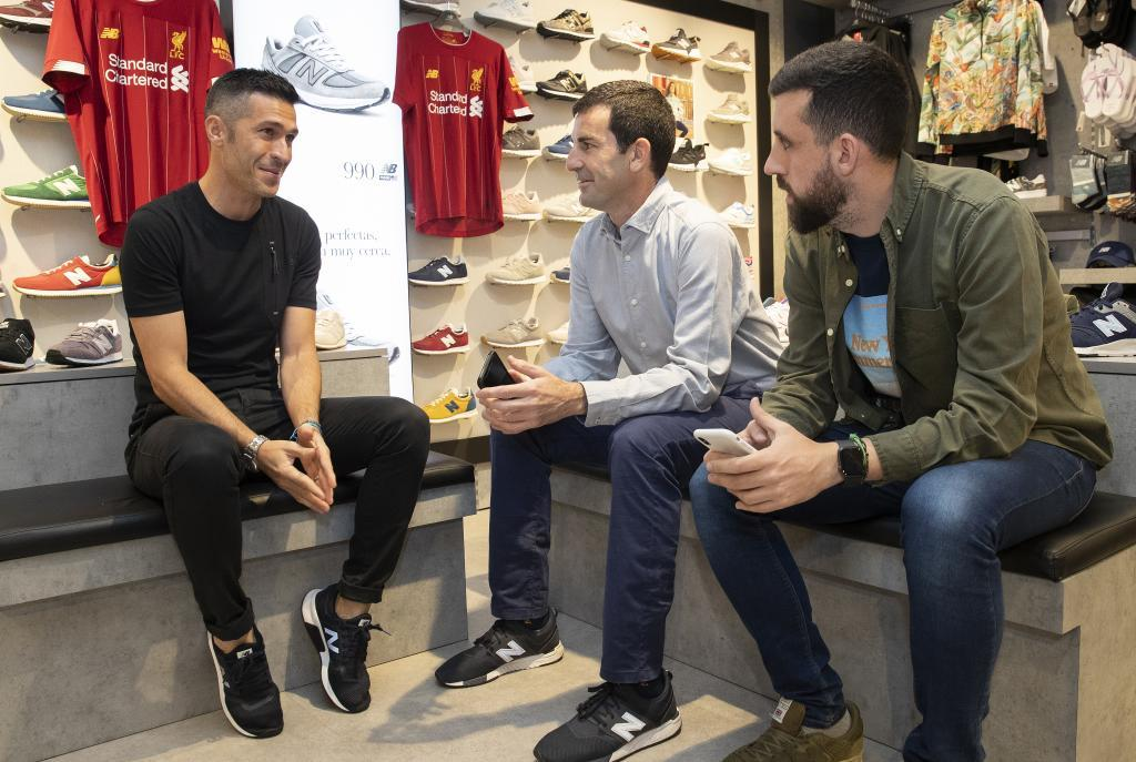 MARCA interview with Luis Garcia at a New Balance shop