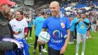 Zinedine Zidane, durante el partido amistoso en Burdeos.