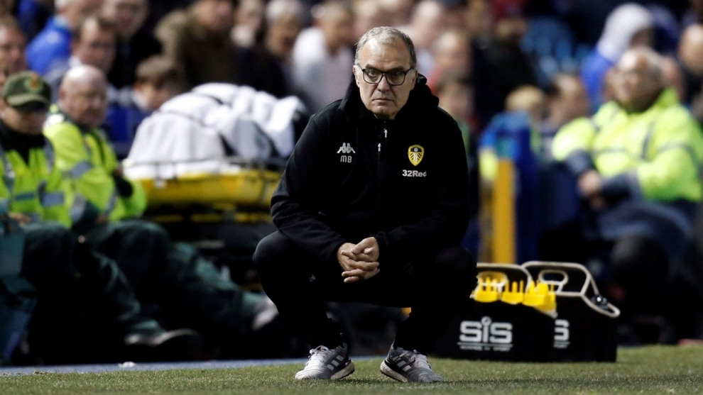 Marcelo Bielsa during a Leeds game.